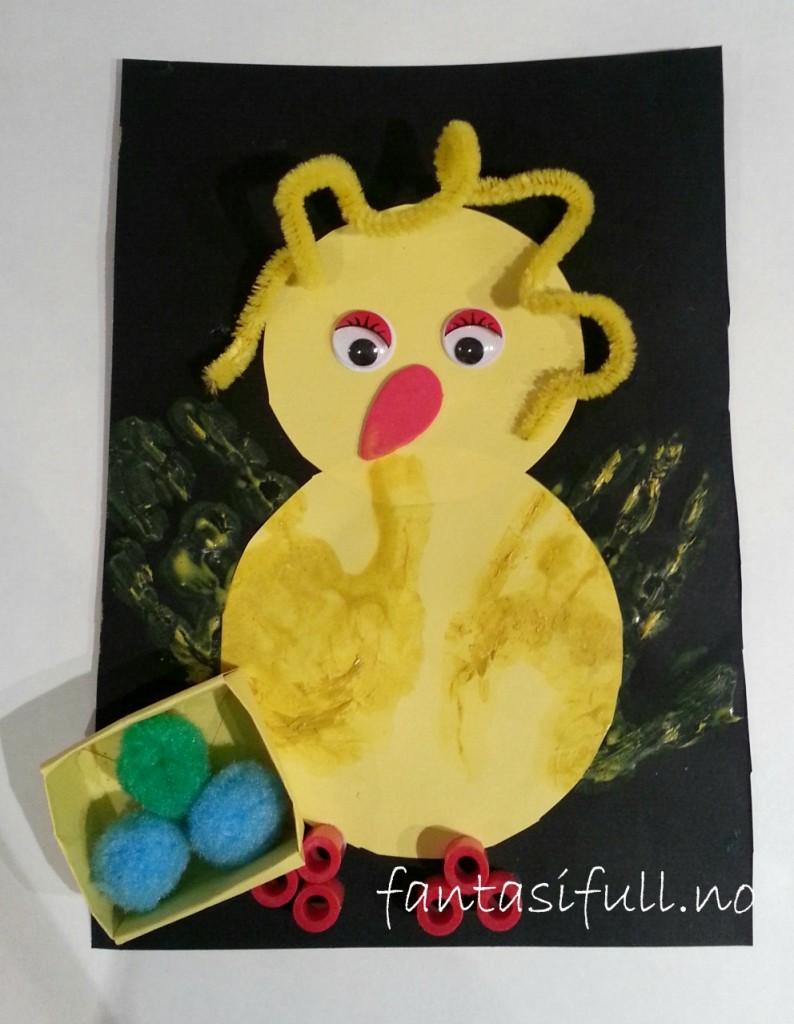 kylling hånd kort