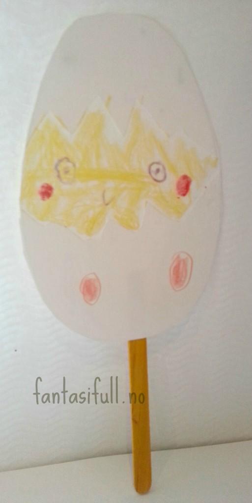 egg på pinne