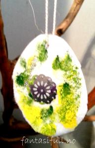 fantasifull filt egg påskepynt