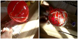 fantasifulle ballong lage med barna finne på kreativ  ballongkuler trådkuler lim garn surre forming formingsaktivtet aktivitet pynt dekorasjon fantasifull